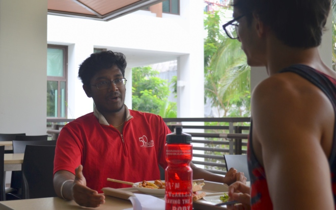 """As Tinesh Indrarajah '17 says, """"...we've made a point that we can compete."""" Photo by Christopher Khew"""