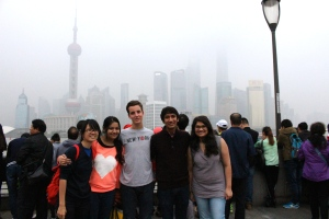 Students at NYU-Shanghai bring Yale-NUS students to the Bund.